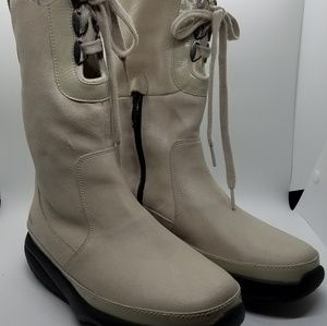 MBT suede lace up boots